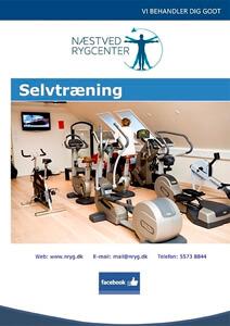 Selvtræning - Næstved Rygcenter